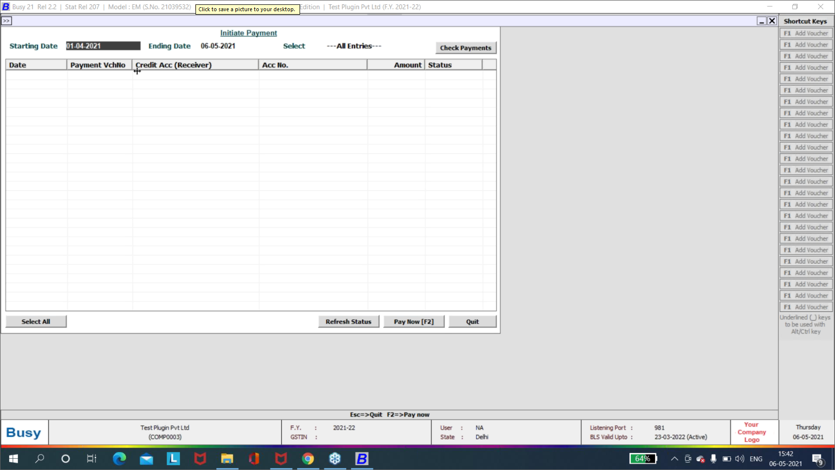 bank addon busy software